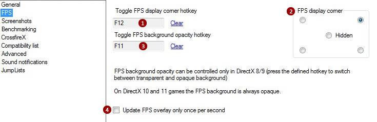 Settings: FPS counter | RadeonPro User's Guide
